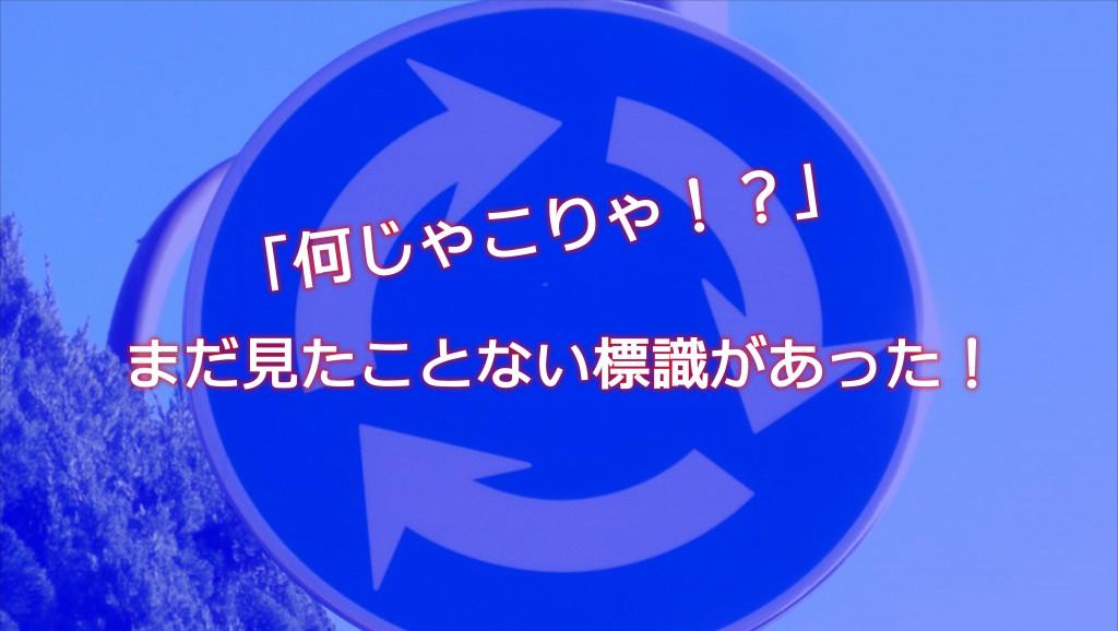 なんじゃこりゃ!?「環状交差点標識」