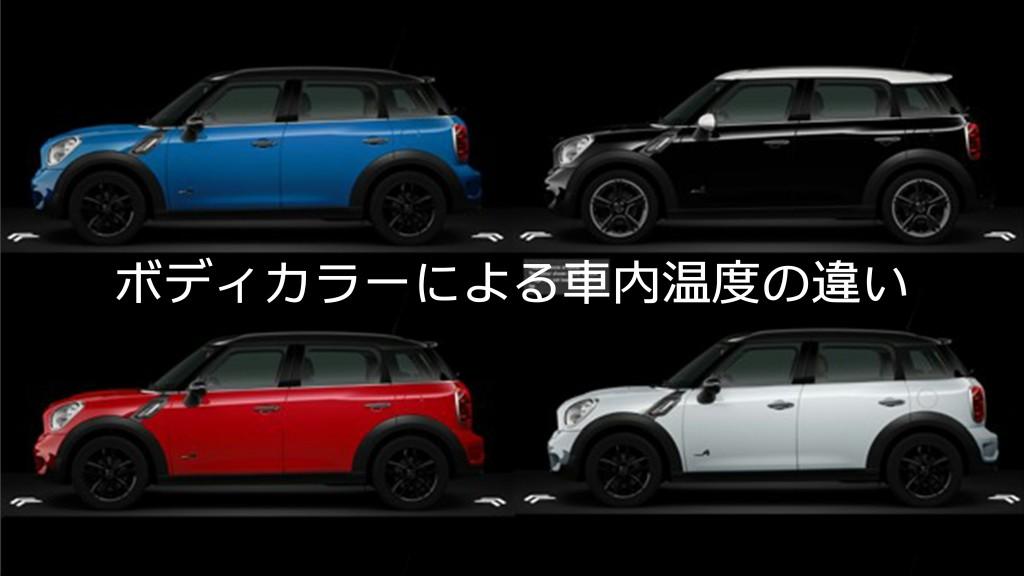 白い車と黒い車で車内温度は変わる!?